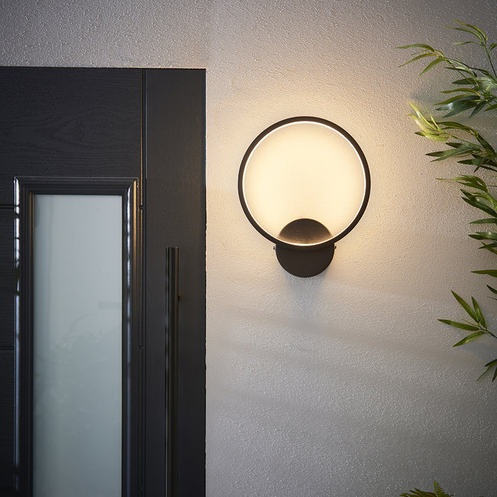 Kieron - Black Circle LED Wall Light
