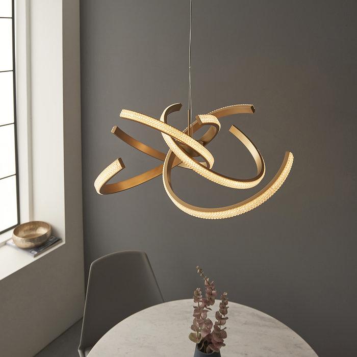 Lorenzo - Gold LED 4 Light Pendant Light