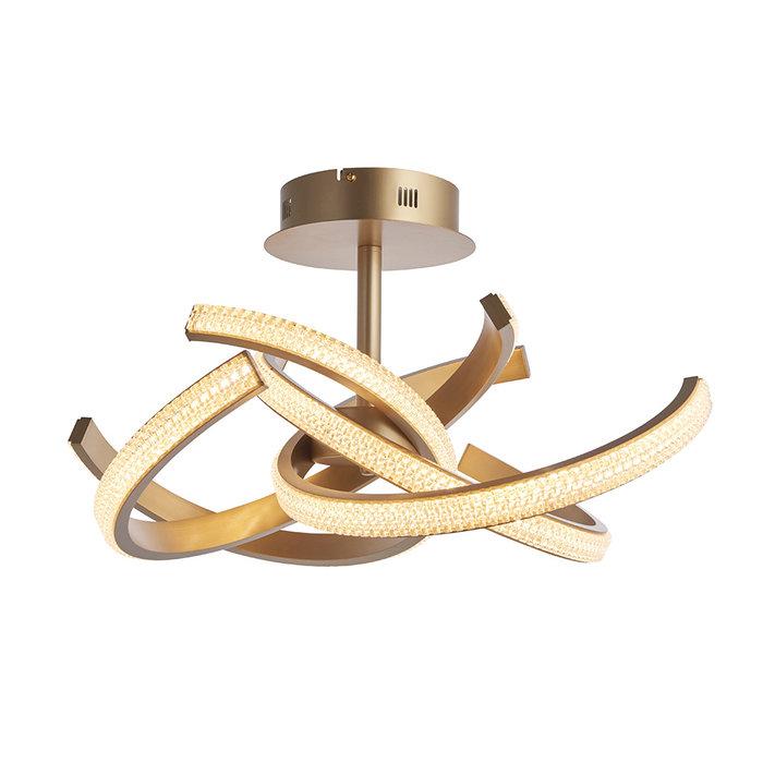 Lorenzo - Gold LED 4 Light Semi Flush Ceiling Light