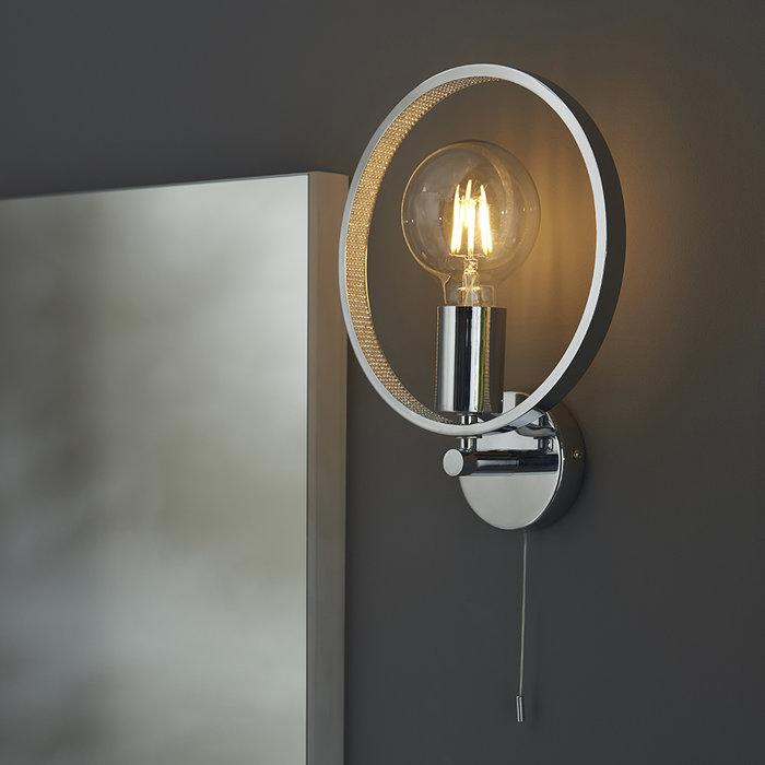 Merola - Chrome and Glass Bathroom LED Wall Light