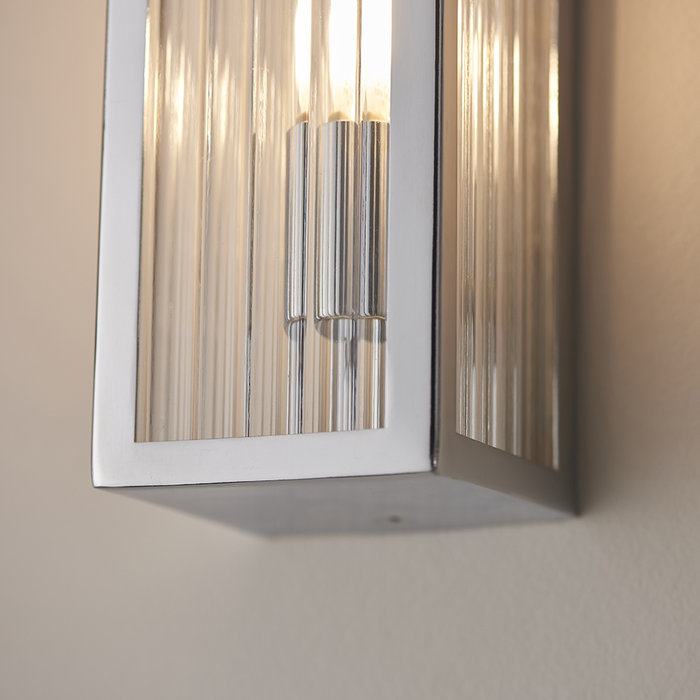 Newham - Ribbed Glass 2 Light LED Wall Light