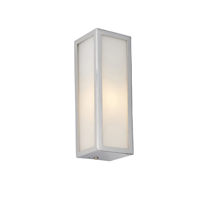 Newham - Chrome and Frosted Glass LED Wall Light
