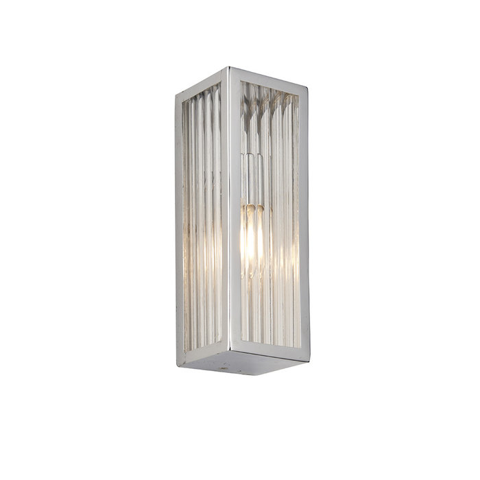 Newham - Chrome and Ribbed Glass LED Wall Light