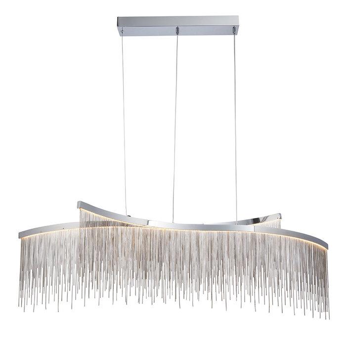 Orphelia  - Silver Fringe 2 Light Pendant Light