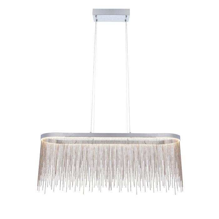 Orphelia  - Silver Fringe Oval Pendant Light