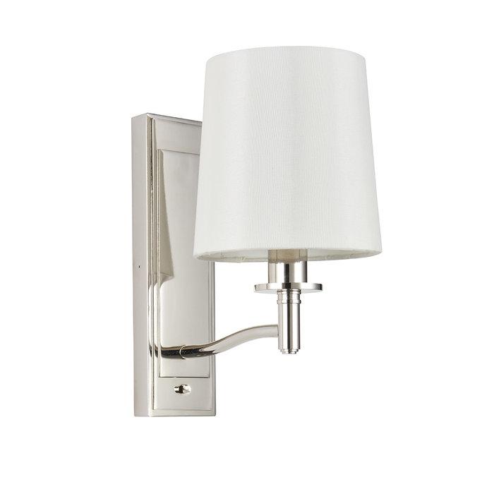 Ortona - Nickel LED Wall Light with Ivory Shade