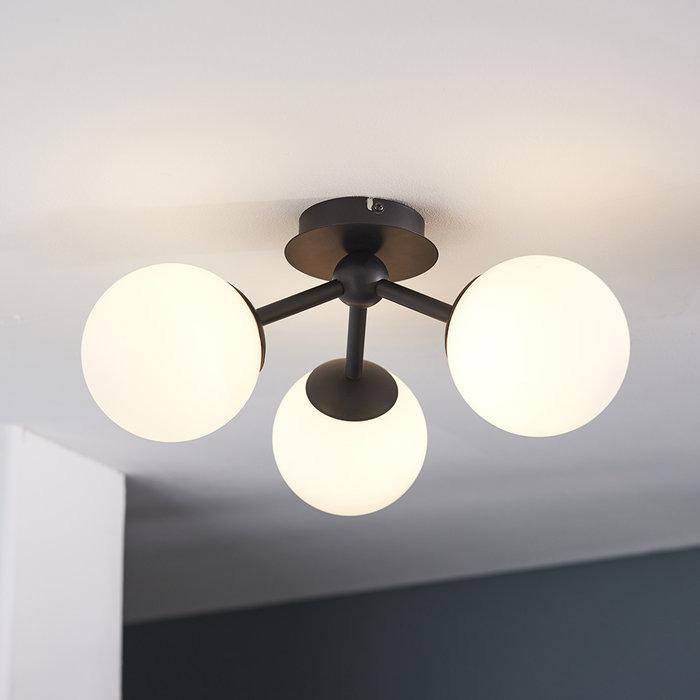 Pulsa 3 Light Semi Flush Ceiling Light