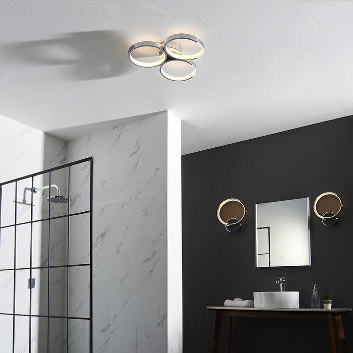 Radius 3 Light Semi Flush Ceiling Light
