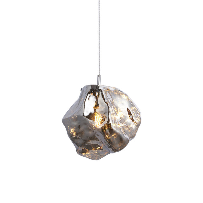 Rock - Chrome Glass Pendant Light