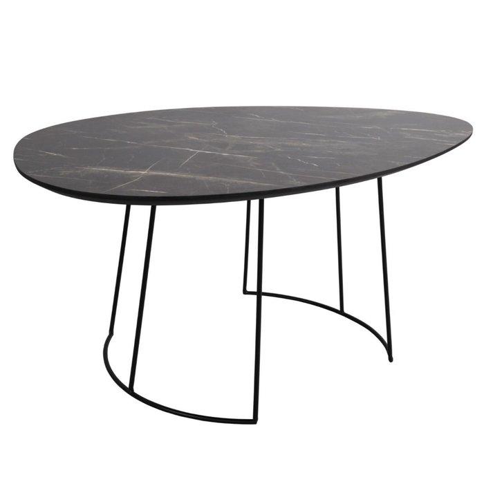 Titan - Mid Century Dark Marble Effect Veneer Coffee Table