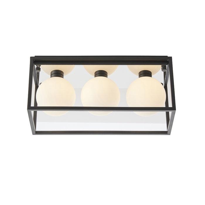 Leeman - Black 3 Light Linear Bathroom Ceiling Light