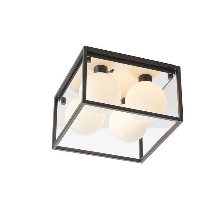 Leeman - Black Square Frame Bathroom Ceiling Light