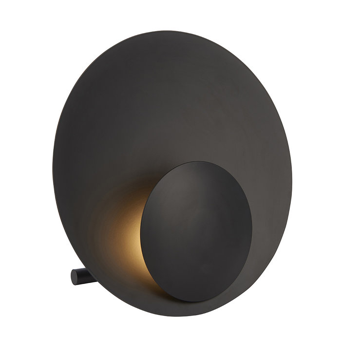 Burlyn - Large Black Circle Table Lamp
