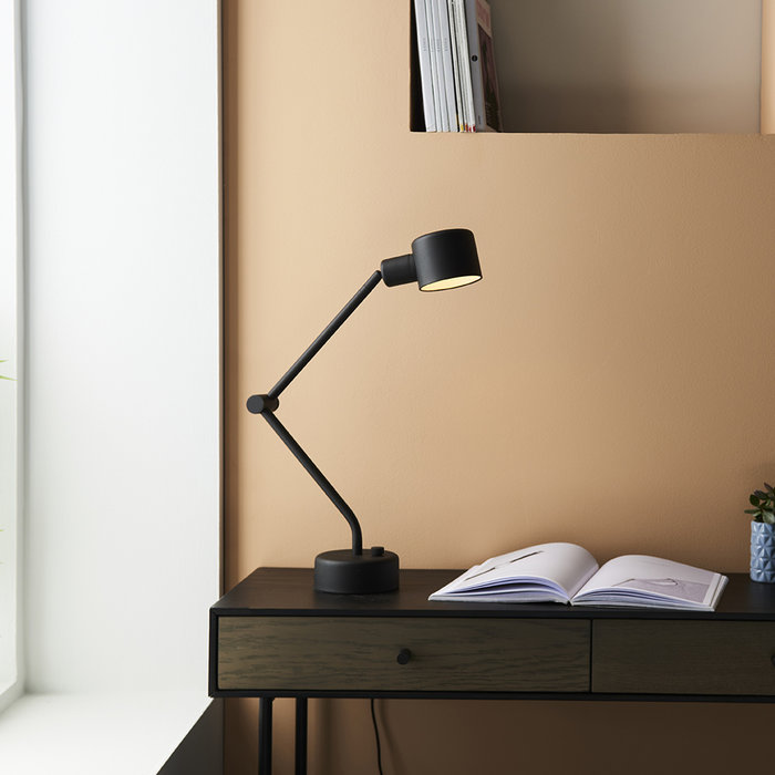 Bardney - Black Industrial Task Lamp