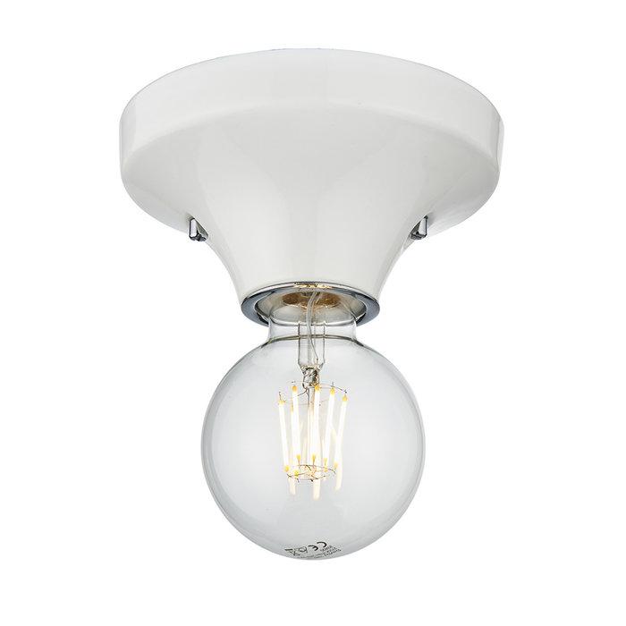 Howse - White Ceramic Flush Bathroom Ceiling Light