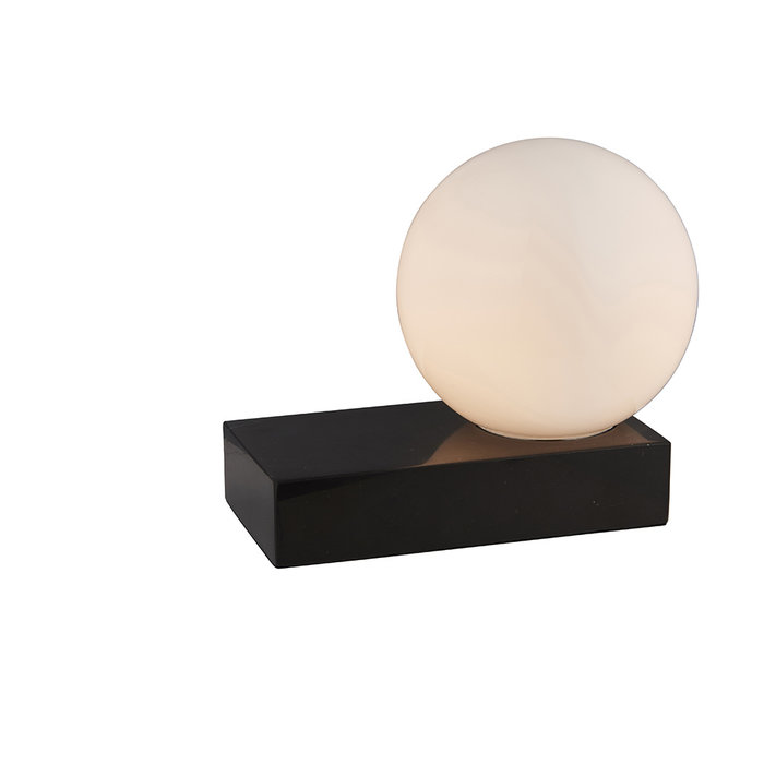 Sands - Scandi Marble Table Lamp with Opal Glass
