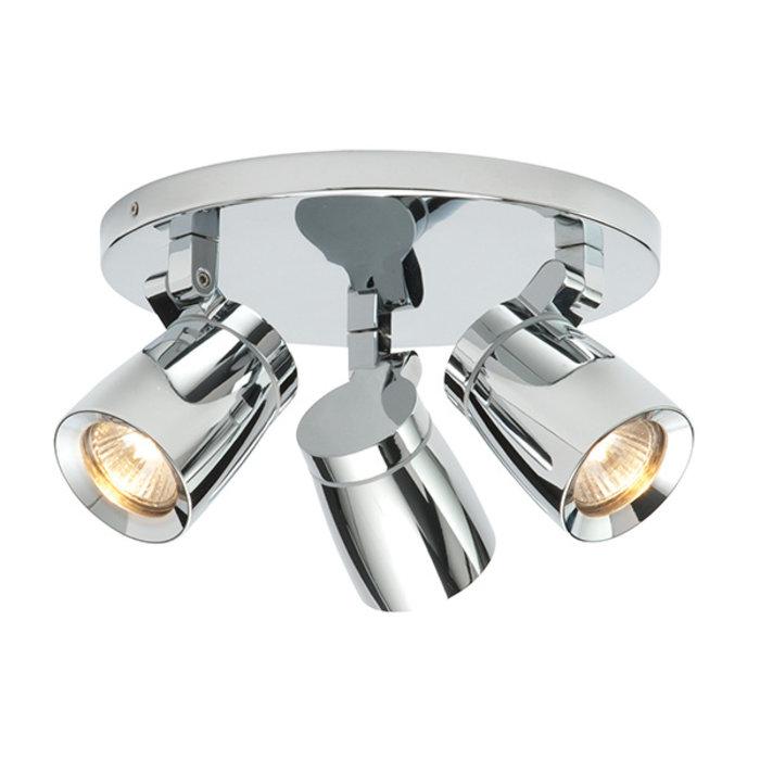 Night - Triple Spotlight Round Plate - IP44