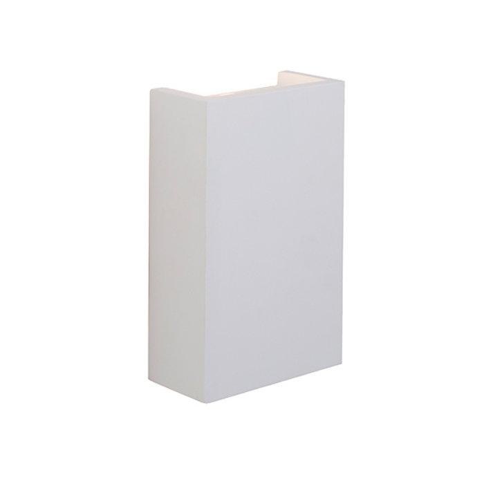 Block - Modern White Plaster Up & Down LED Wall Light
