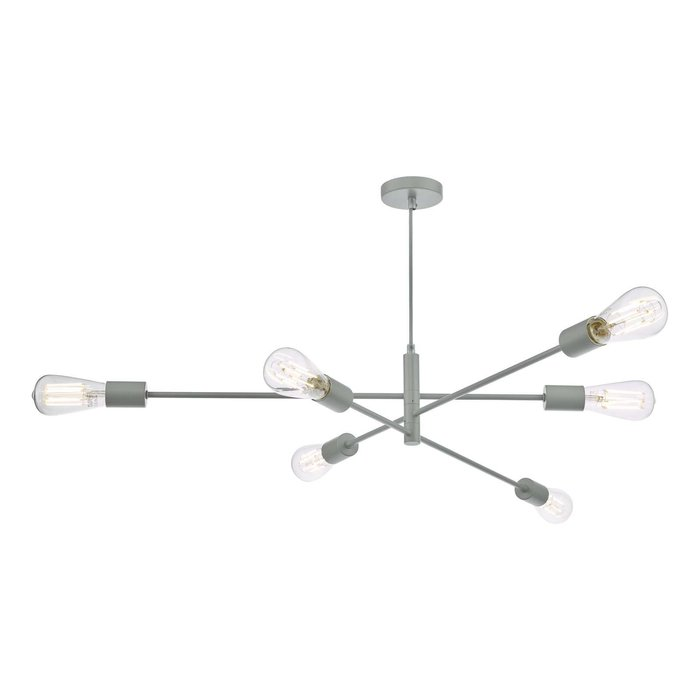 Alana 6 Light Armed Fitting Pendant Light - Matt Grey