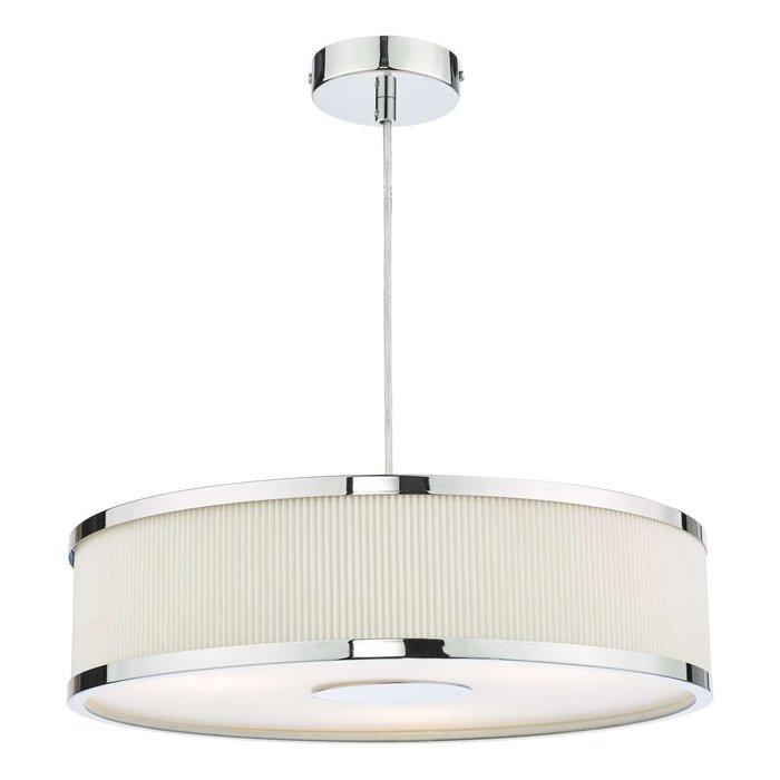 Alvaro 3 Light Single Pendant Light - Polished Chrome Ivory