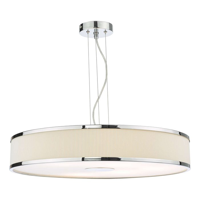 Alvaro 6 Light Single Pendant Light - Polished Chrome Ivory
