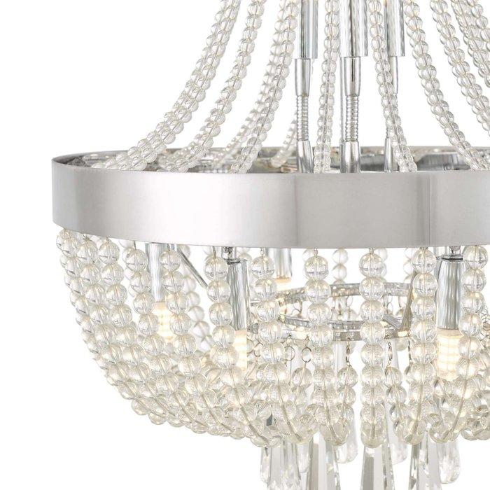 Alyssa 9 Light Pendant Light - Polished Chrome Glass