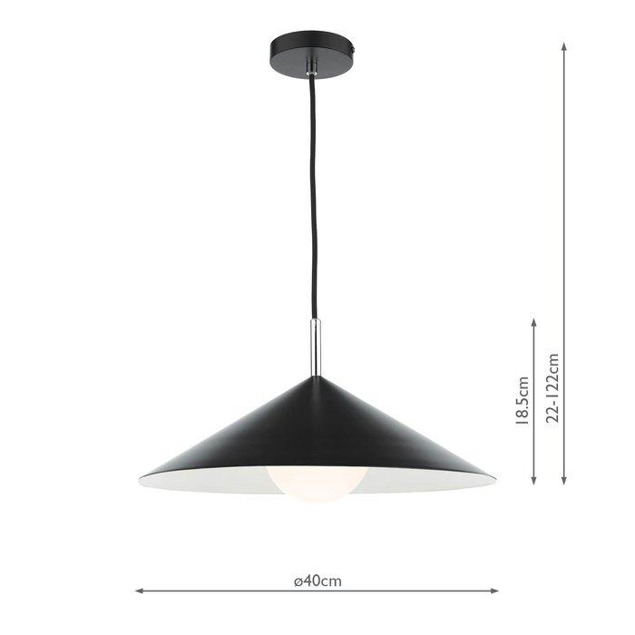 Apex 1 Light Single Pendant Light - Matt Black Polished Chrome