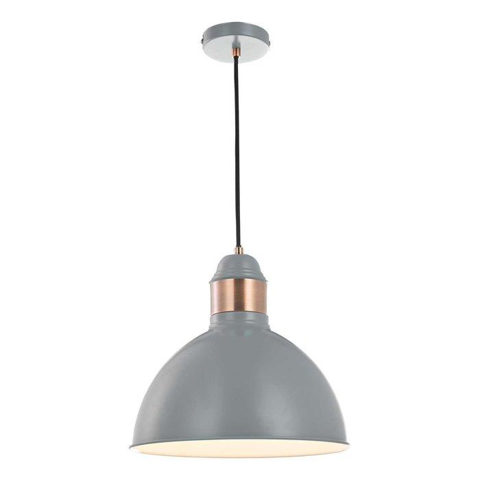 Frederick 1 Light Single Pendant Light - Grey Satin Copper