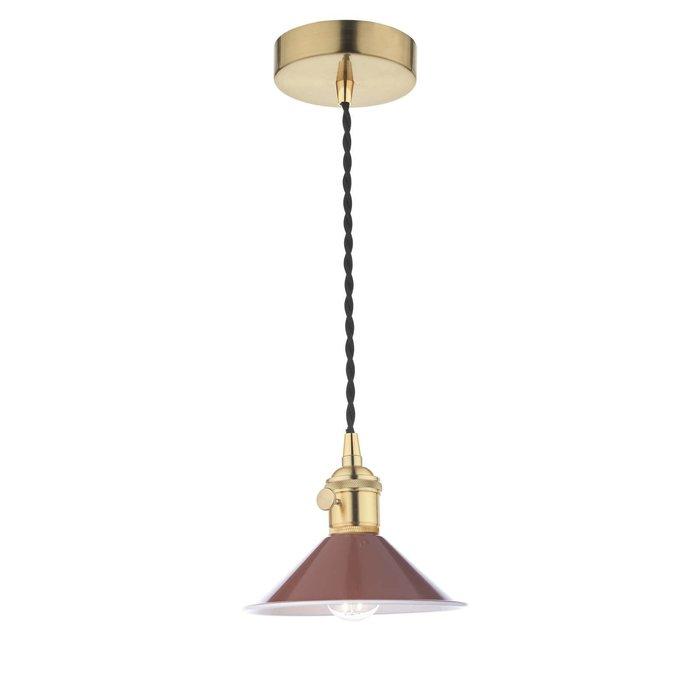 Hadano 1 Light Pendant Light - Natural Brass With Umber Shade
