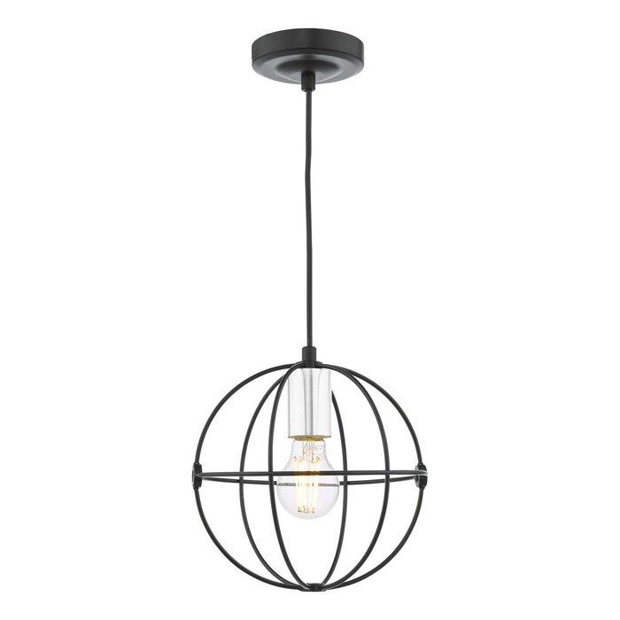 Javari 1 Light Pendant Light - Matt Black/Polished Chrome