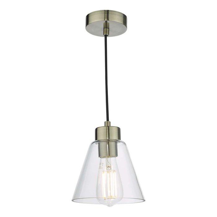 Jie 1 Light Pendant Light - Antique Brass Glass