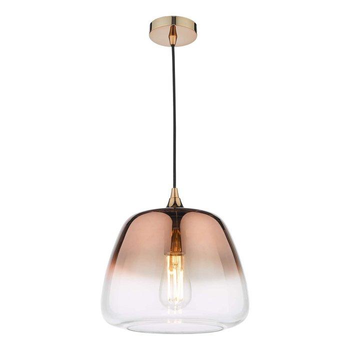Klaxon 1 Light Pendant Light - Ombre Copper Glass