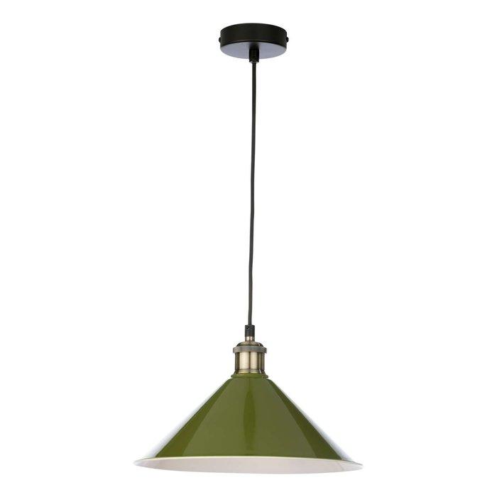 Kinsley 1 Light Easy Fit Metal Shade - Gloss Green 30Cm