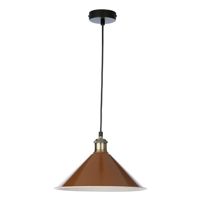 Kinsley 1 Light Easy Fit Metal Shade - Gloss Rust/Umber 30cm