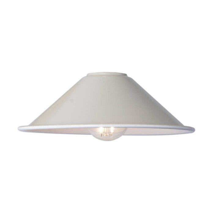 Accessories 1 Light Easy Fit Metal Shade - Matt Cashmere/Taupe 18Cm