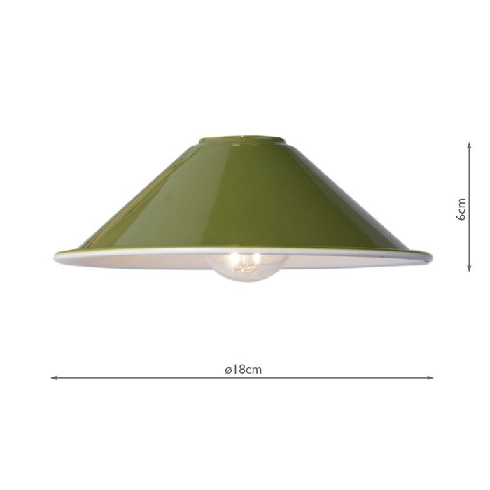 Accessories 1 Light Easy Fit Metal Shade - Gloss Green 18Cm