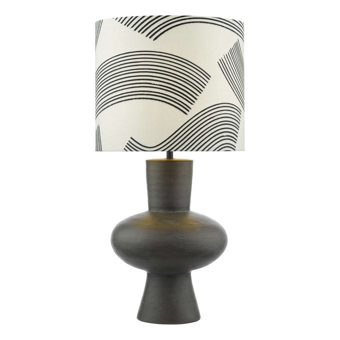 Miho 1 Light Table Lamp - Black/Bronze With Shade