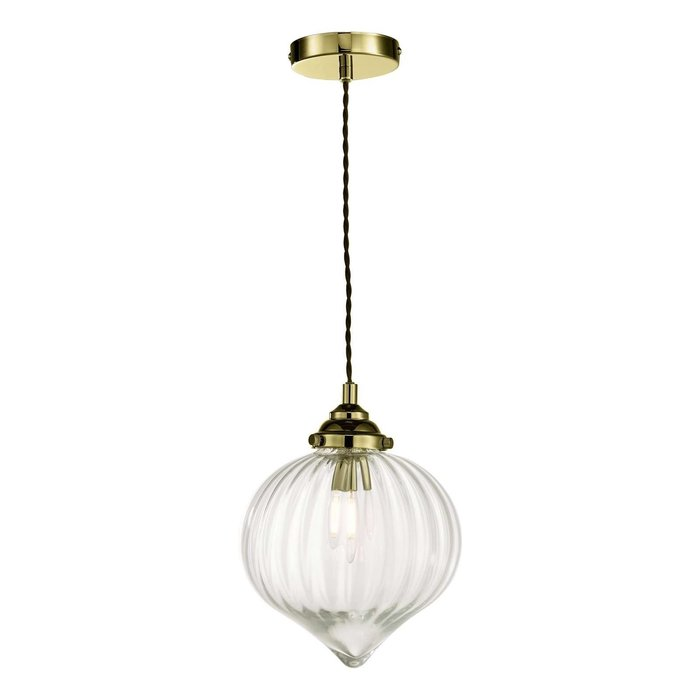 Mya 1 Light Single Pendant Light - Antique Brass Glass