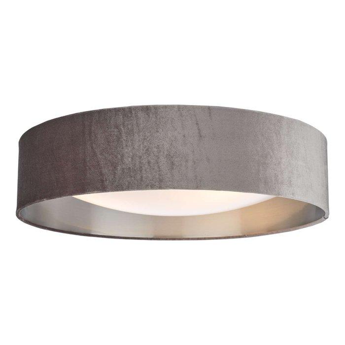 Nysa 3 Light Flush Velvet Mink Shade 60Cm