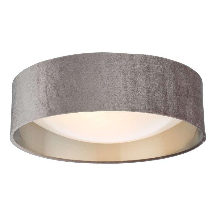 Nysa 2 Light Flush Velvet Mink Shade 40Cm