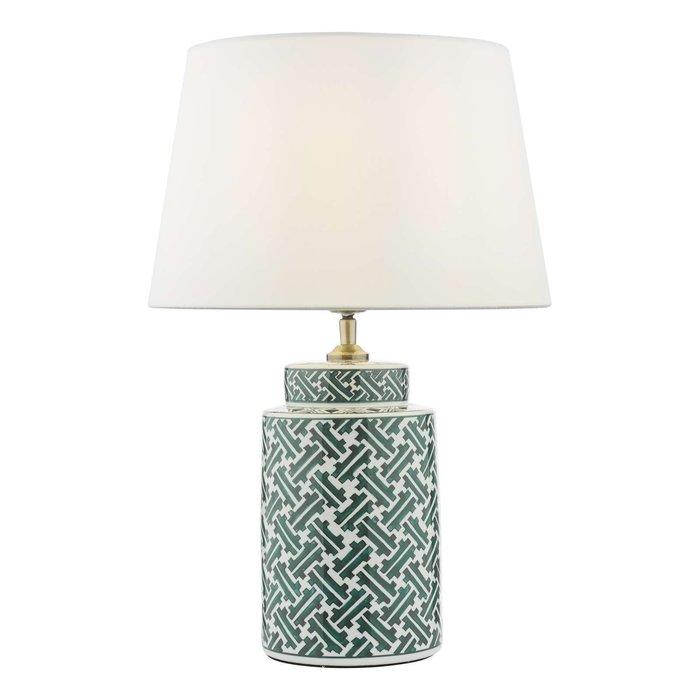 Reese 1 Light Ceramic Table Lamp - Green & Blue Print Base Only
