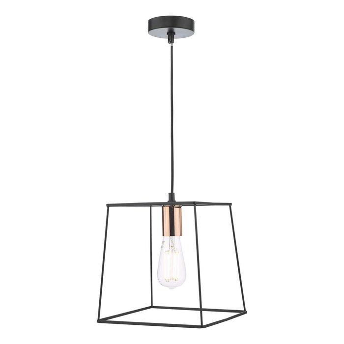 Tower 1 Light Single Pendant Light - Matt Black Copper