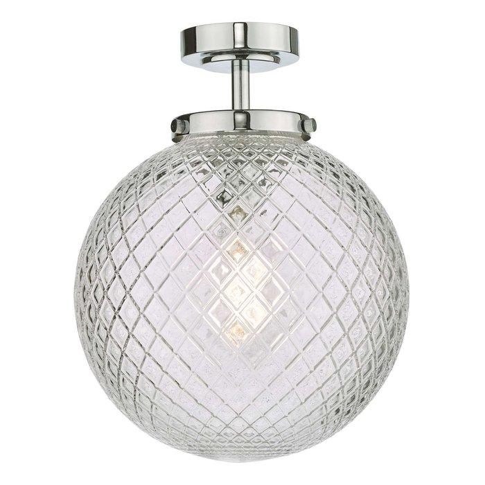 Wayne Flush Ceiling Light - Polished Chrome Glass IP44
