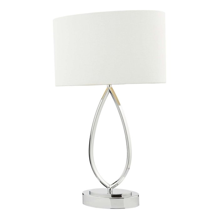 Wyatt Touch Table Lamp - Polished Chrome With Shade