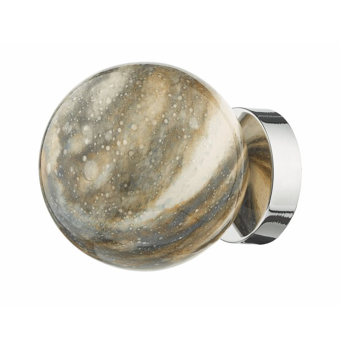 Marble  - Art Glass Sphere  Wall Light