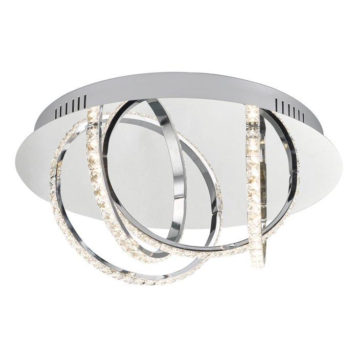 Zenith - Modern Crystal Hoop Flush Ceiling Light