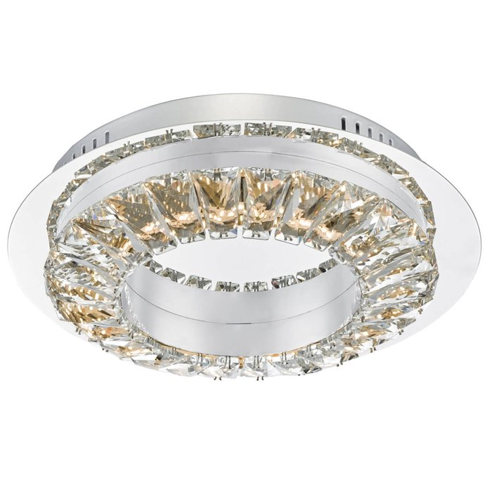 Halo - Contemporary Crystal Ring Flush Ceiling Light