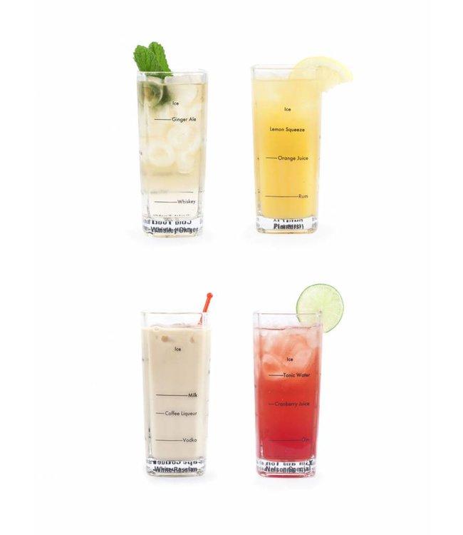 Kikkerland Longdrink cocktail glazen