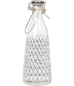 Present Time Glazen fles patroon vakjes