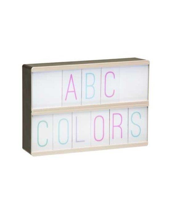 Fisura 105 pasteltinten cijfers & letters voor lightbox